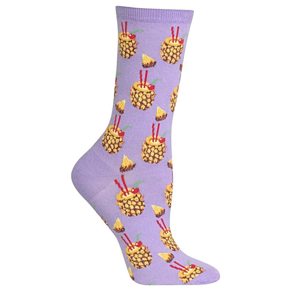 Hot Sox Women's Socks - Pineapple Drinks
