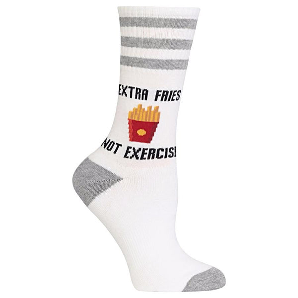 Hot Sox Women's Socks - Extra Fries Not Exercise