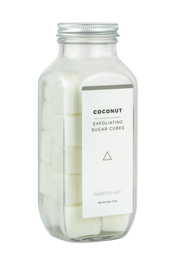 Harper + Ari Exfoliating Sugar Cubes 16oz Jar - Coconut