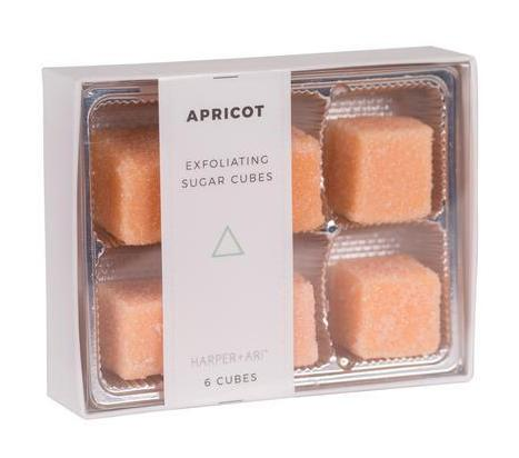 Harper + Ari Exfoliating Sugar Cubes 6pc Box - Apricot