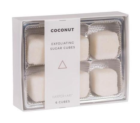 Harper + Ari Exfoliating Sugar Cubes 6pc Box - Coconut