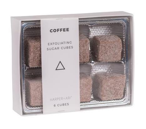 Harper + Ari Exfoliating Sugar Cubes 6pc Box - Coffee