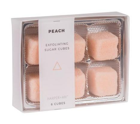 Harper + Ari Exfoliating Sugar Cubes 6pc Box - Peach