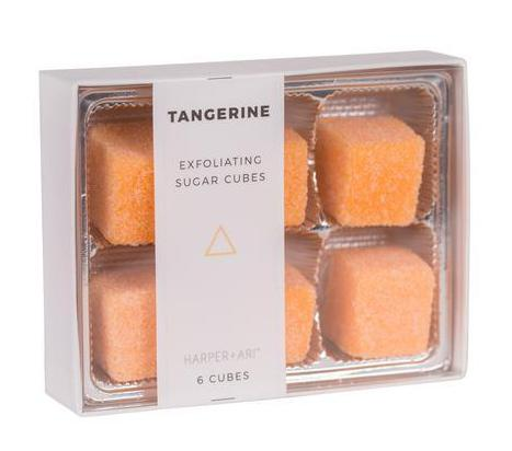 Harper + Ari Exfoliating Sugar Cubes 6pc Box - Tangerine