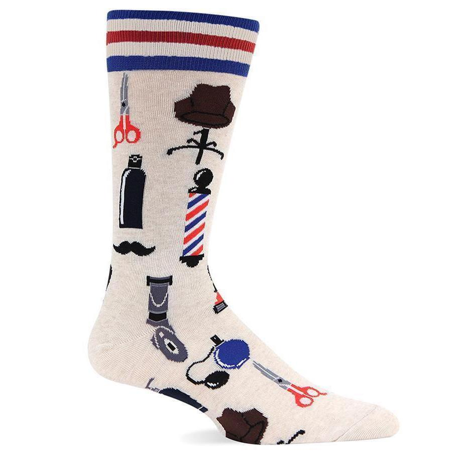 Hot Sox Men's Socks - Barber Shop