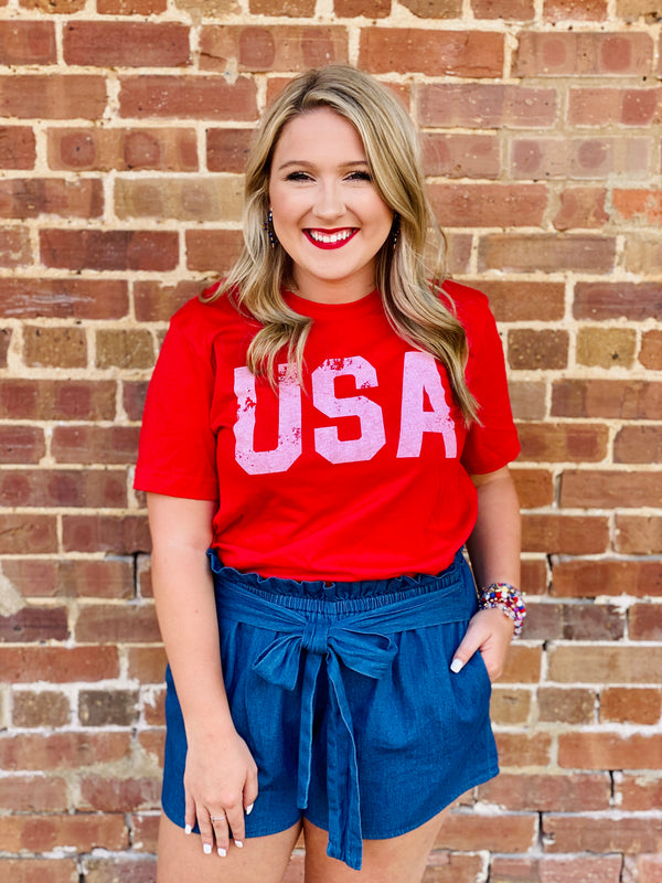 Macy May Graphic Tee -  USA