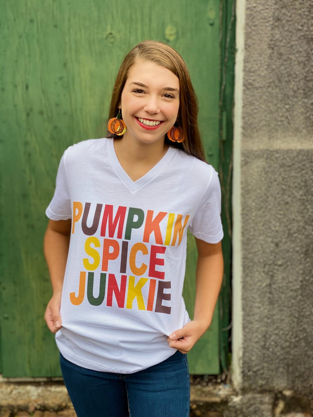 Macy May Graphic Tee -  Pumpkin Spice Junkie
