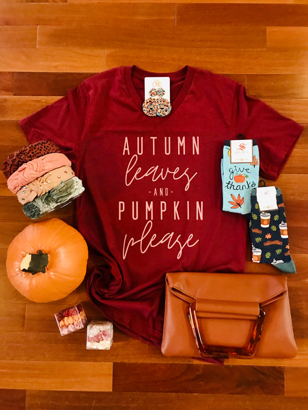 Macy May Graphic Tee - Autumn Leaves