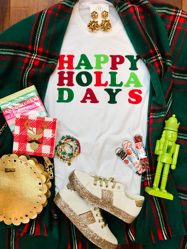 Macy May Graphic Tee Shirt - Happy Holla Days