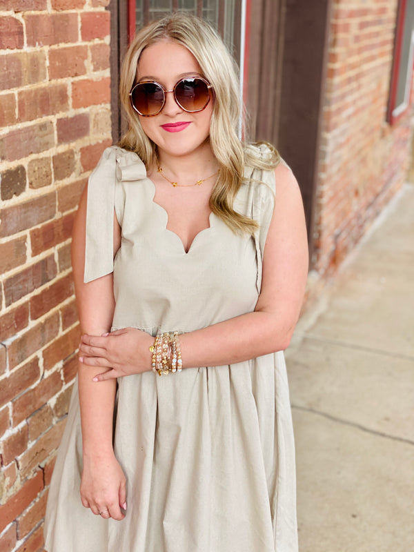 Carolina Babydoll Dress - Linen