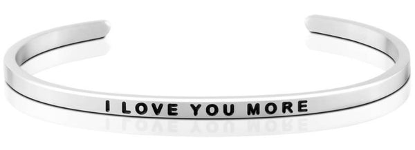 MantraBand I Love You More Bracelet - Silver