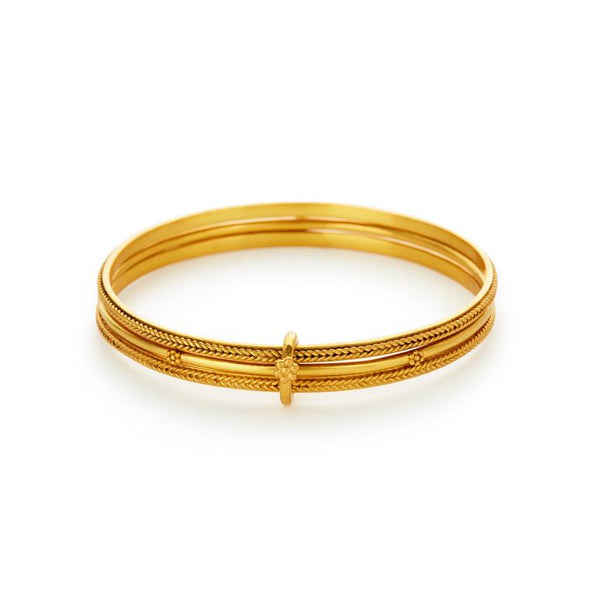 Julie Vos Isabel Trio Bangle - Gold