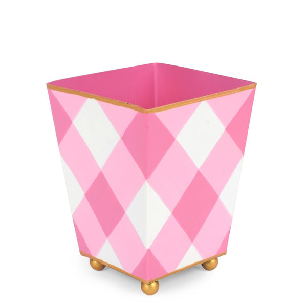 "Jaye's Studio 4"" Square Cachepot - Pink Buffalo Plaid"