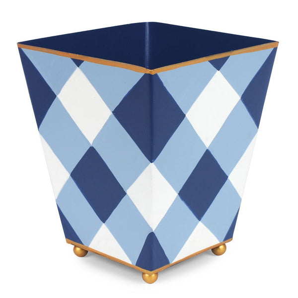 "Jaye's Studio 6"" Square Cachepot  - Blue Buffalo Plaid"