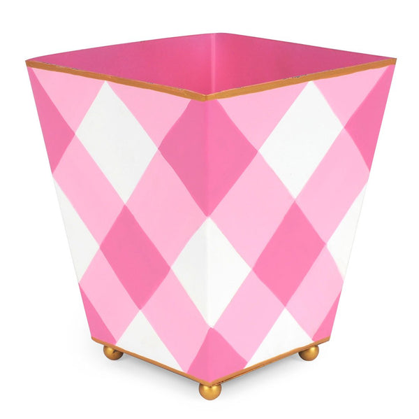 "Jaye's Studio 6"" Square Cachepot - Pink Buffalo Plaid"