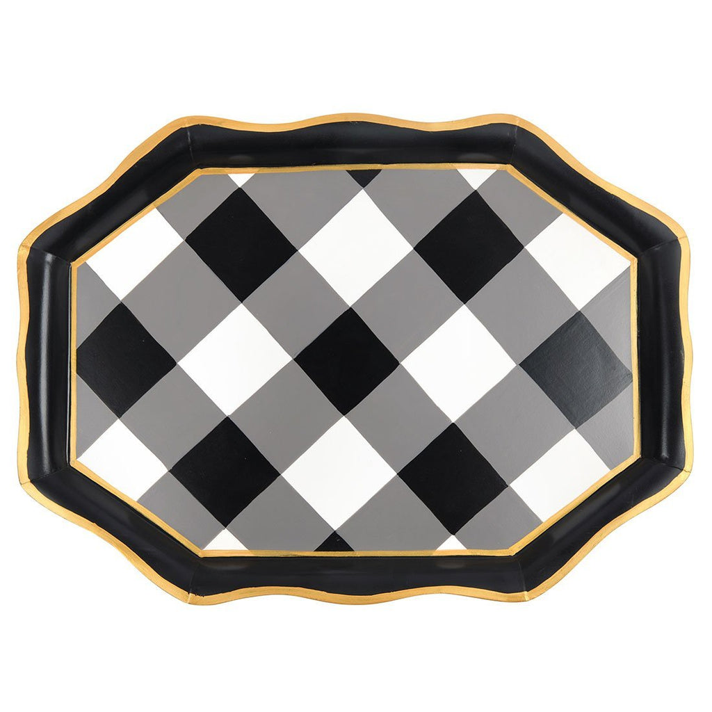 Jaye's Studio Tea Tray - Black Buffalo Plaid