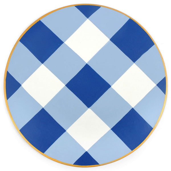 Jaye's Studio Round Placemat - Blue Buffalo Plaid