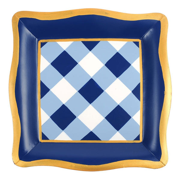 Jaye's Studio Social Tray - Blue Buffalo Plaid