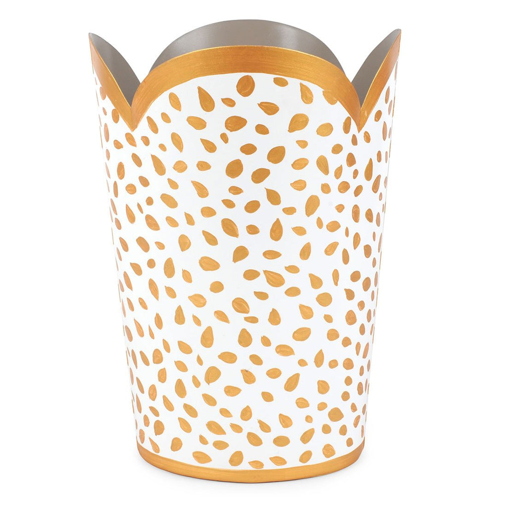 Jaye's Studio Tulip Wastebasket - Spot On Gold