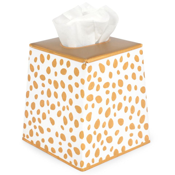 Jaye's Studio Tissue Box Cover - Spot On Gold