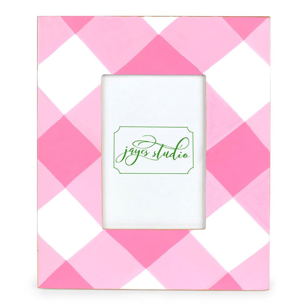 Jaye's Studio 5x7 Frame - Pink Buffalo Plaid