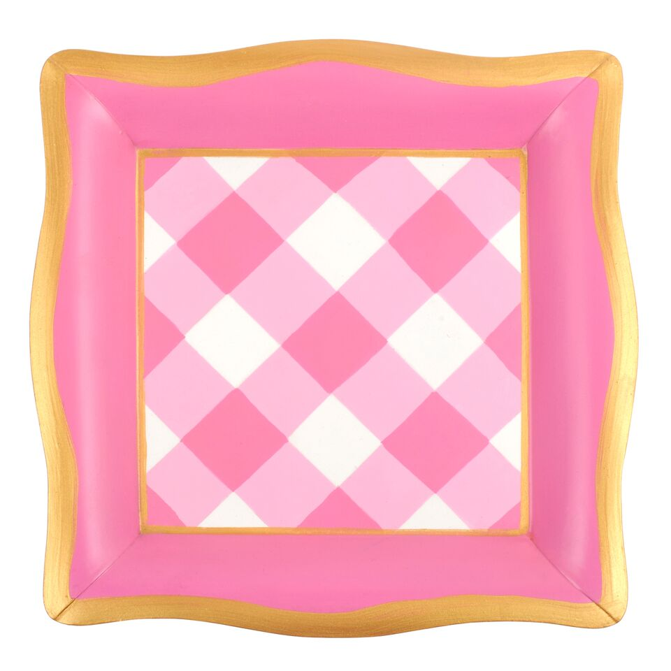 Jaye's Studio Social Tray - Pink Buffalo Plaid