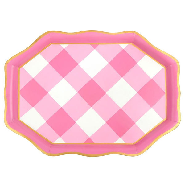 Jaye's Studio Tea Tray - Pink Buffalo Plaid