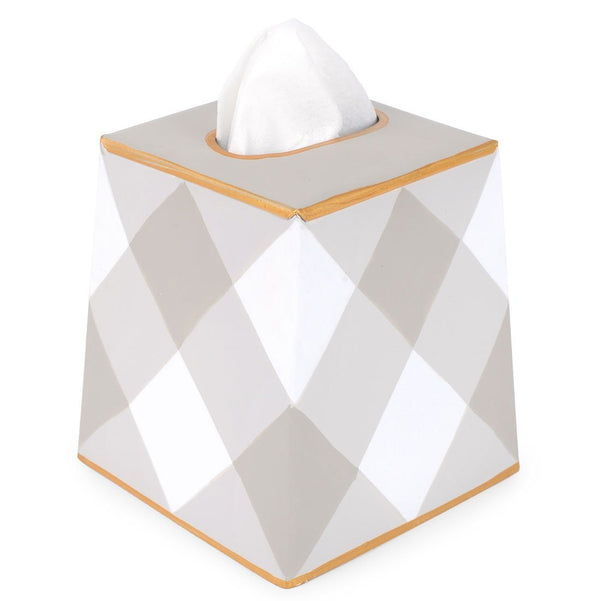 Jaye's Studio Tissue Box Cover - Taupe Buffalo Plaid