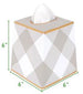 Jaye's Studio Tissue Box Cover - Pink Buffalo Plaid