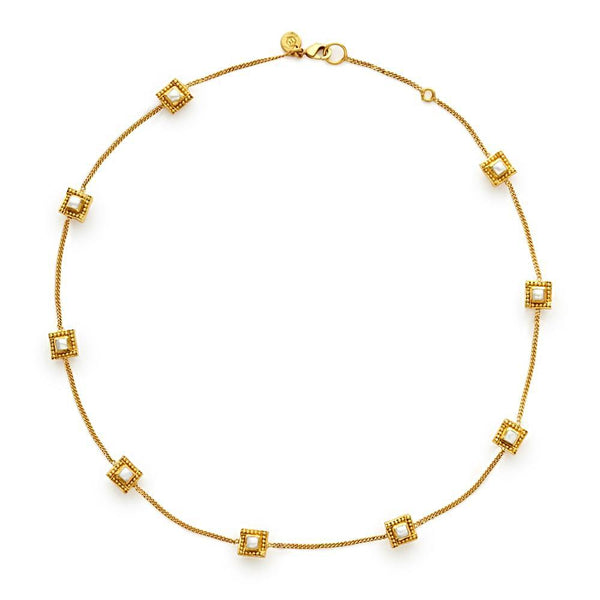 Julie Vos Delicate Isabel Necklace - Pearl