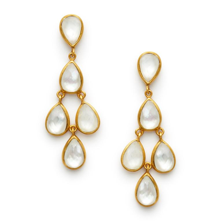 Julie Vos Clara Post Drop Earring - Pearl