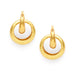 Julie Vos Catalina 2-in-1 Hoop Earring - Hammered Gold