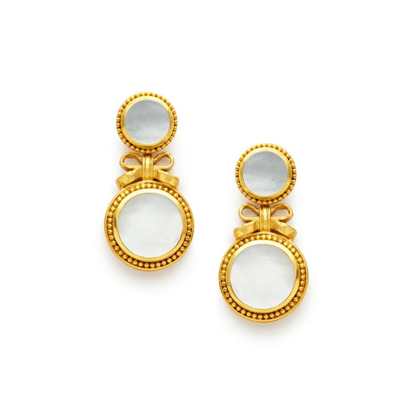 Julie Vos Isabel Midi Drop Earring - Pearl