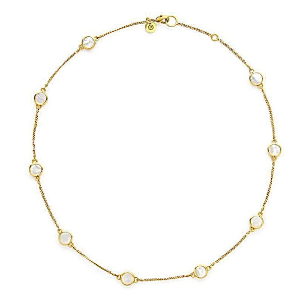 Julie Vos Delicate Valencia Station Necklace - Pearl