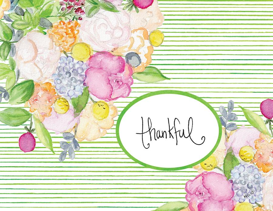 Kris 10 Notecard Set - Thankful Bouquet
