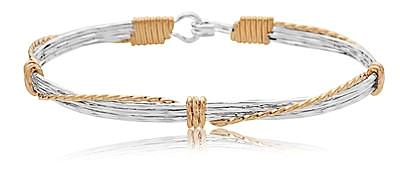 Ronaldo Leap Of Faith Bracelet - Silver/Gold