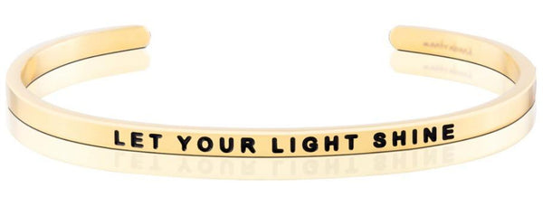 MantraBand Let Your Light Shine Bracelet - Gold