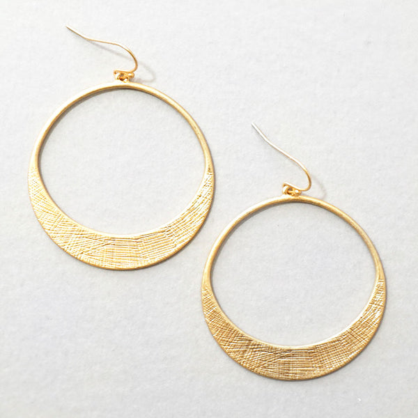 Alana Earrings - Matte Gold