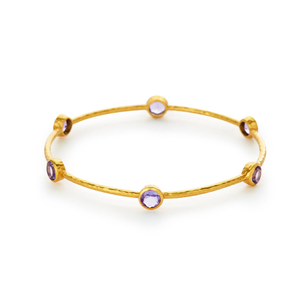 Julie Vos - Milano Amethyst 6 Stone Bangle