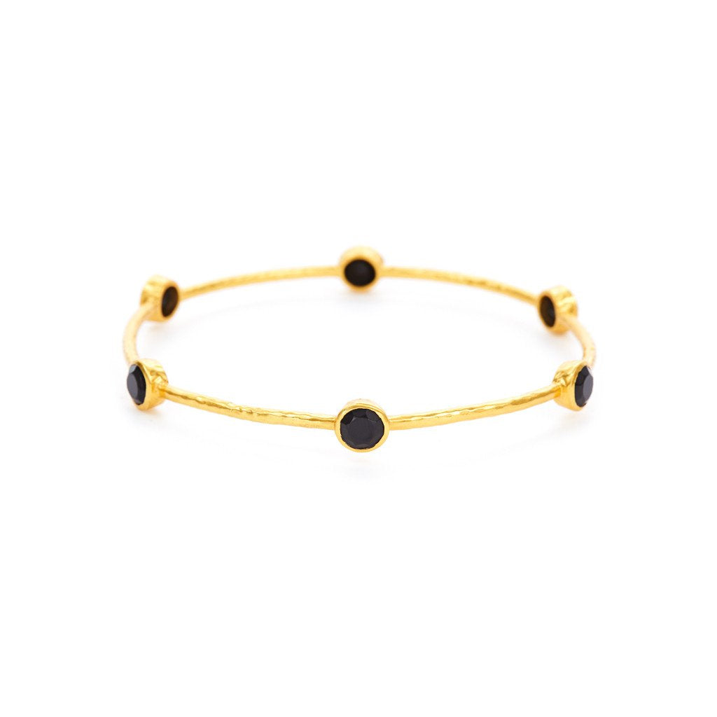Julie Vos - Milano Black 6 Onyx Stone Bangle