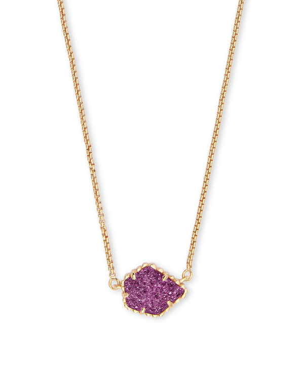Kendra Scott Tess Necklace - Amethyst Drusy