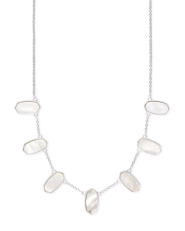 Kendra Scott Meadow Necklace - Silver Ivory Mother Of Pearl