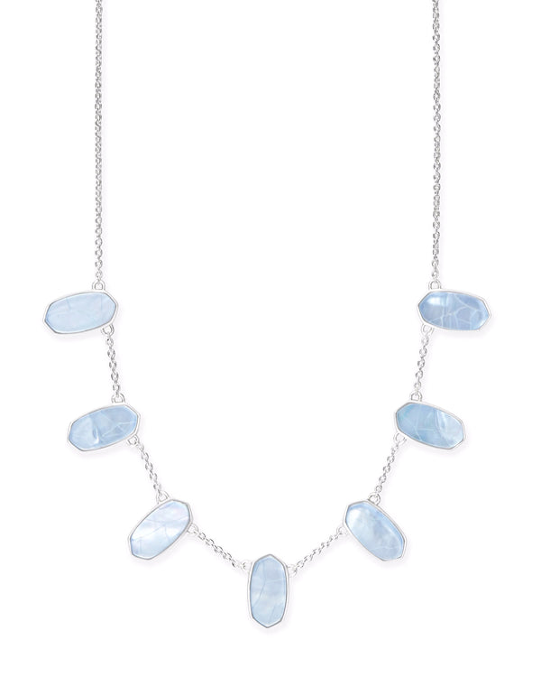 Kendra Scott Meadow Necklace - Silver Sky Blue Illusion