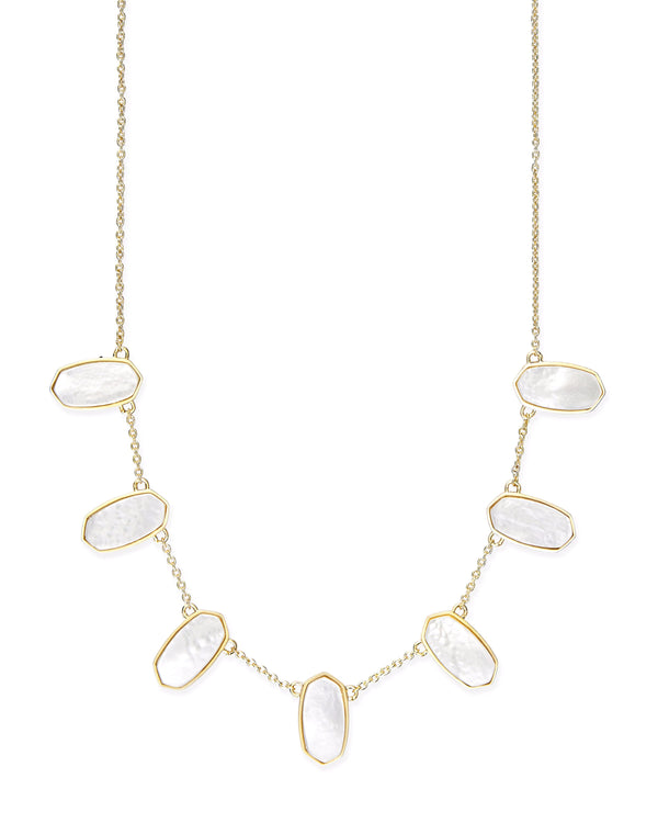 Kendra Scott Meadow Necklace - Gold Ivory Mother Of Pearl