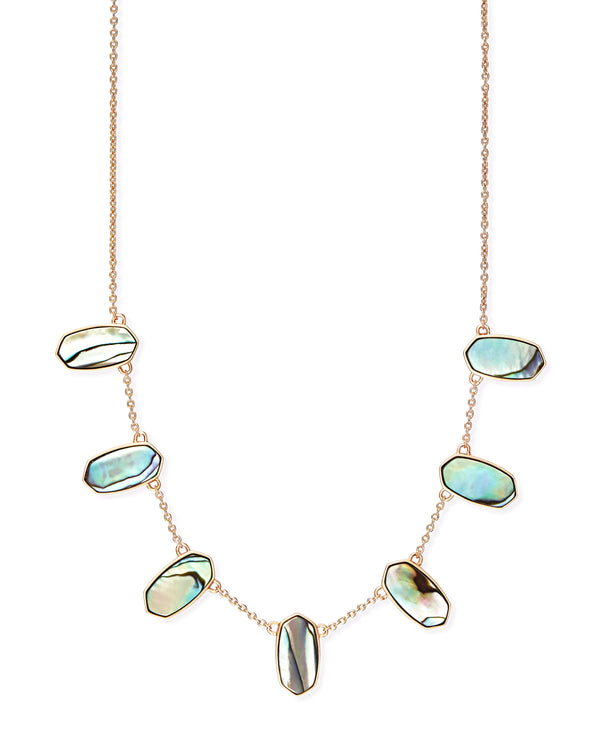 Kendra Scott Meadow Necklace - Rose Gold Abalone