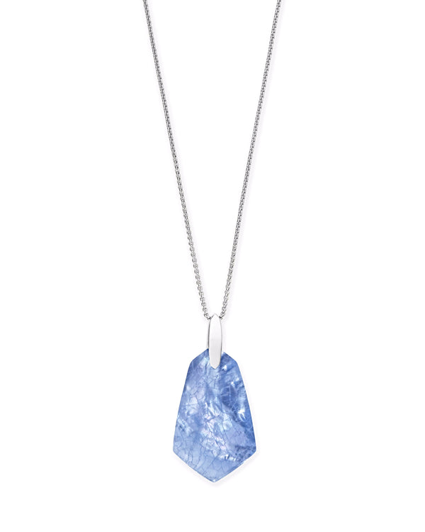 Kendra Scott Cam Necklace - SIlver Sky Blue Illusion