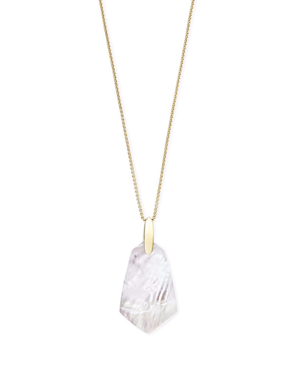 Kendra Scott Cam Necklace - Gold Ivory Mother of Pearl