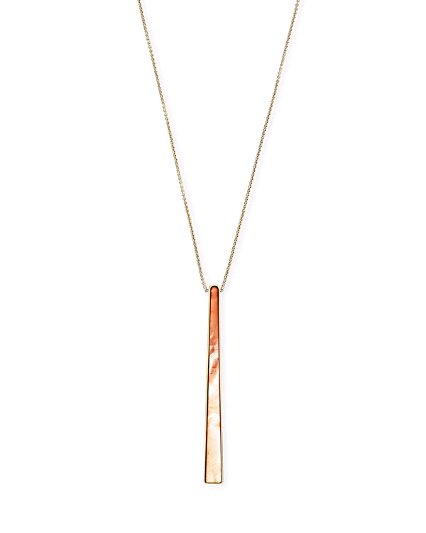 Kendra Scott Baleigh Necklace - Gold Peach Mother of Pearl