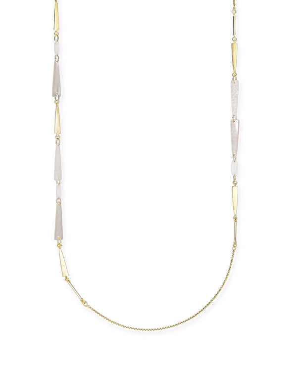 Kendra Scott Aylin Necklace - Gold Ivory Mother of Pearl Mix