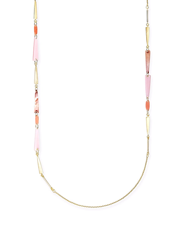 Kendra Scott Aylin Necklace - Gold Peach Mother of Pearl Mix